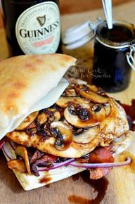 Guinness Glazed Chicken Sandwich - (Free Recipe below)