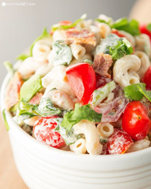 BLT Pasta Salad - (Free Recipe below)