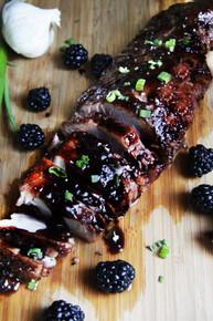 Blackberry Hoisin Ginger Pork Tenderloin - (Free Recipe below)