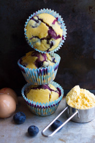 Blueberry Cornbread Muffins - (Free Recipe below)