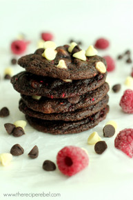 Triple Chocolate Raspberry Cookies - One Dozen