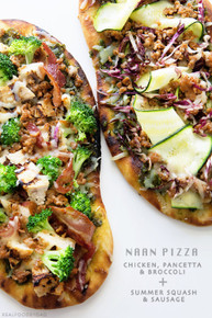 Chicken, Pancetta and Broccoli Naan Pizza - (Free Recipe below)