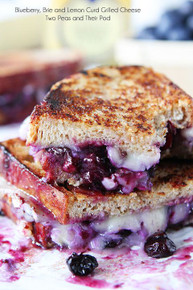 Blueberry, Brie and Lemon Curd Grilled Cheese - (Free Recipe below)