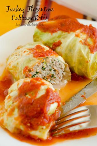 ... Supper Turkey Florentine Stuffed Cabbage Rolls - (Free Recipe below