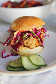 Fried Chicken Sliders with Homemade Brioche and Sesame Slaw - (Free Recipe below)