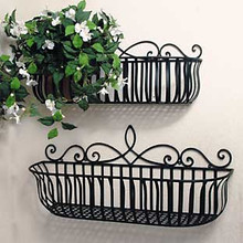 Milano Scroll Plant Holders (set of 2)