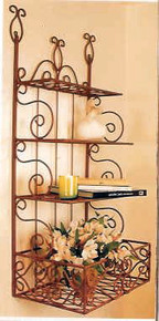 Wrought Iron 3 Shelf