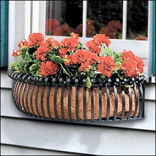 Half Moon Circular Window Box Planter - custom orders accepted