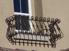 Custom Wrought Iron Window Balcony Planters, Boxes, Covers - custom sizes and styles
