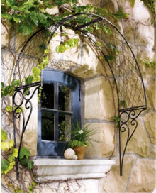 Custom Wrought Iron Over Door or Window English Trellis - custom sizes, designs