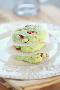 Cran-Pistachio Cookies - One Dozen