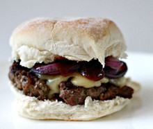 Chargrilled Burgers with Red Wine Barbecue Sauce - (Free Recipe below)