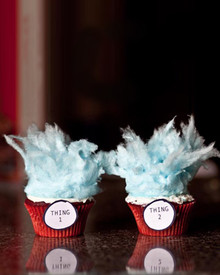 Red Velvet Cotton Candy Cupcakes - One Dozen