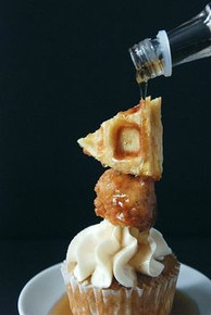 Chicken and Waffles Cupcakes - One Dozen