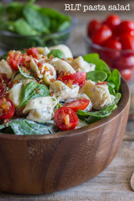 Fresh BLT PASTA SALAD - (Free Recipe below)