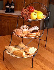 Astrid Three Tier Metal Serveware Stand