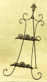 2 Place Metal Table Top Plate Rack