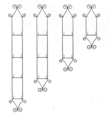 1 to 4 Tier Vertical Plate Racks