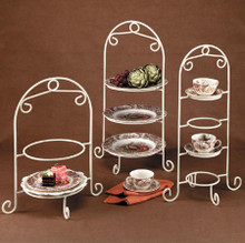 4 Tier Cup & Saucer Holder White