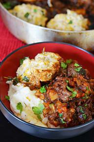 Guinness Beef Stew with Cheddar Herb Dumplings - (Free Recipe below)