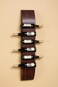 6 Bottle Wooden Wine Rack