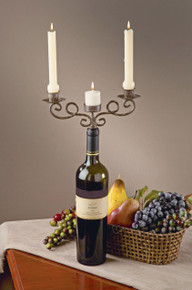 3 Place Wine Bottle Candelabra