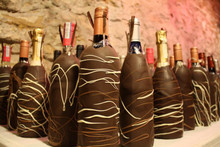 Chocolate Covered Champagne Bottle