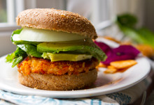 Sweet Potato Veggie Burgers - (Free Recipe below)