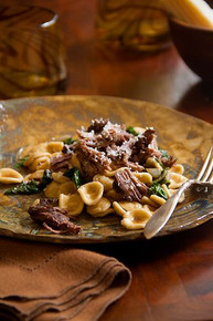 Cabernet Braised Short Ribs with Swiss Chard and Orecchiette - (Free Recipe below)