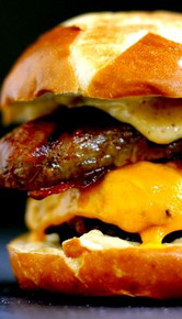 Sweet and Smoky Bacon Brat Burger - (Free Recipe below)