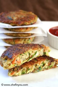Carrot, Zucchini, Potato Cake Patties - (Free Recipe below)