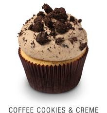 Coffee, Cookie & Creme Cupcakes - One Dozen