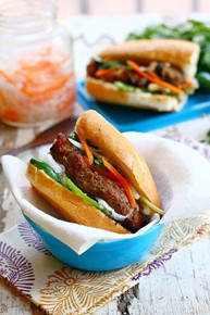Banh Mi with Lemongrass Pork Sandwich - (Free Recipe below)