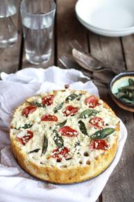 Butternut Squash and Gorgonzola Rigatoni Pasta Pie with Fried Sage - (Free Recipe below)