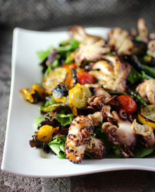 Charred Baby Octopus Salad - (Free Recipe below)