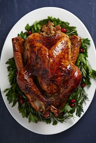 Turkey with Brown Sugar Glaze - (Free Recipe below)