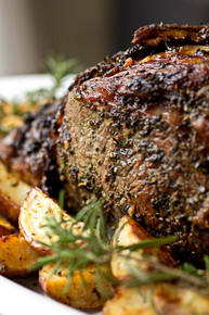 Herb Crusted, Garlic Stuffed Prime Rib Roast with Au Jus - (Free Recipe below)