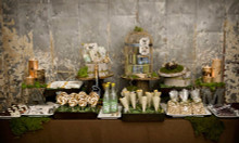 Variety of Rustic Dessert Table