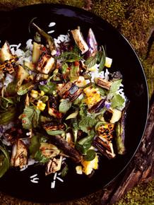 Tuukka Koski - Grilled Vegetable and Rice Fish Salad - (Free Recipe below)