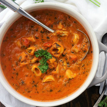Spinach Tortellini Tomato Soup - (Free Recipe below)