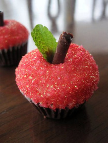 Pink Champagne, Guinness and Bailey's Apple shaped Cupcakes - One Dozen