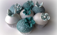 Wedding Blue Velvet Cupcakes - One Dozen