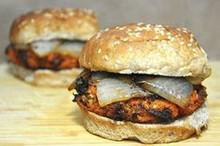 Maple Sweet Potato Pecan Burgers -(Free Recipe below)