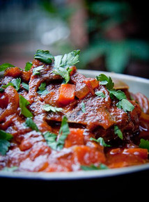 South African Tomato Stew Tamatie Bredie - (Free Recipe below)