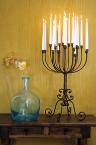 Elegant Giant Iron Table Candelabra - holds 20 Candles