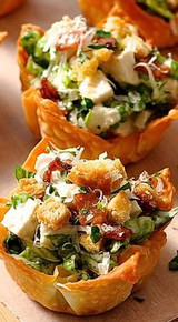 Caesar Salad Wonton Cups - (Free Recipe below)