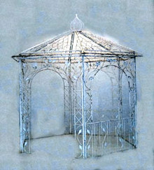 Garden Leaf Gazebo - custom designs available