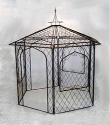 Lattice Iron Gazebo - custom orders accepted