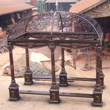 "Custom Wrought Iron Gazebo top 11' x 14"" in Black - custom sizes, styles available"