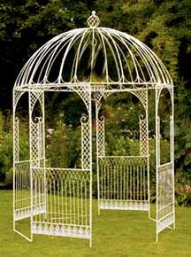 Distressed Wrought Iron Gazebo - custom sizes, styles available